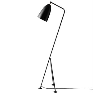GUBI Grossman Collection Grässhoppa Floor Lamp Black