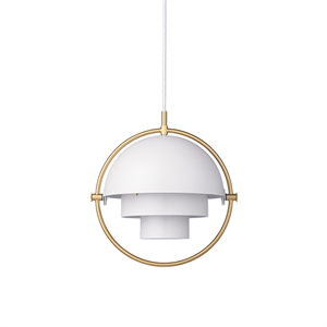 GUBI Multi-Lite Hanglamp Klein Messing en wit