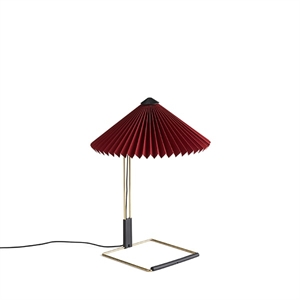 HAY Matin Tafellamp Klein Dark Red