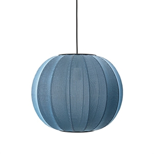 Made By Hand Knit-Wit Ronde Hanglamp Blauwe Steen Ø45