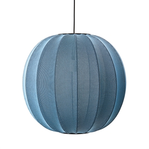 Made By Hand Knit-Wit Ronde Hanglamp Blauwe Steen Ø60