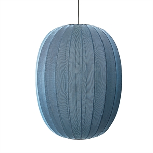 Made By Hand Knit-Wit Ovale Hanglamp Blauwe Steen Ø65