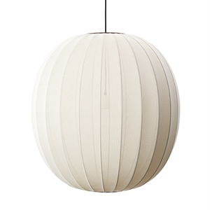 Made By Hand Knit-Witte Ronde Hanglamp Parelwit Ø75