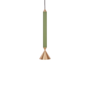 Pholc APOLLO 39 Pendant Green/Polished Brass