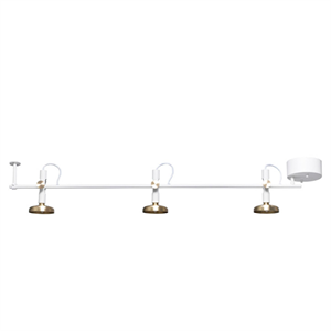 Pholc BLEND 3 Spot Ceiling Lamp White/Brass