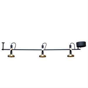 Pholc BLEND 3 Spot Ceiling Lamp Black/Brass