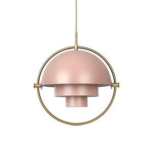 GUBI Multi-Lite Hanglamp Rose & Messing